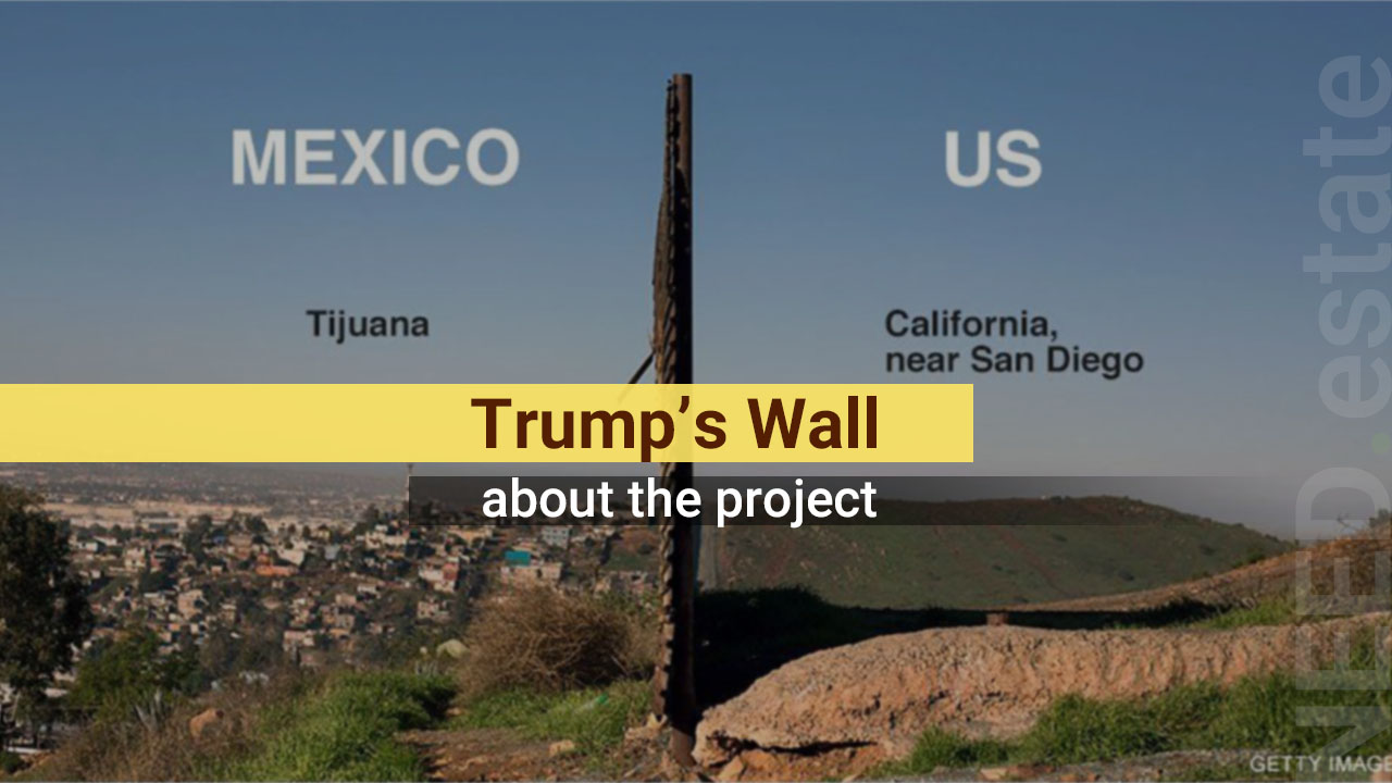 Trump's wall: US border with Mexico